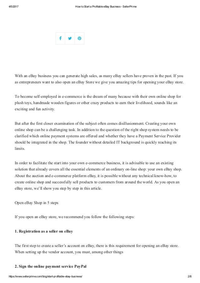 452017 how to start a profitable ebay business sellerprime https