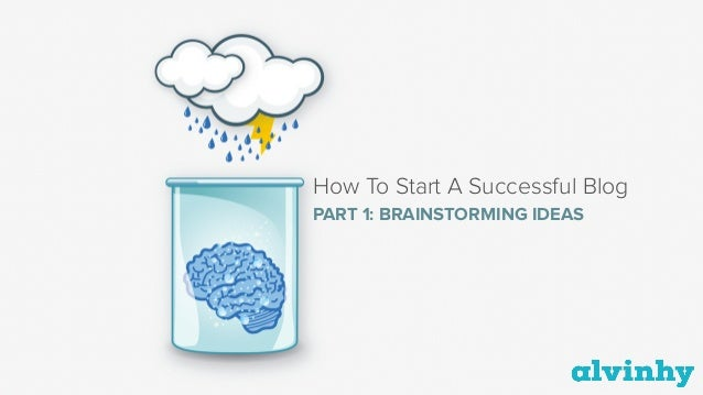 How To Start A Successful Blog PART 1: BRAINSTORMING IDEAS