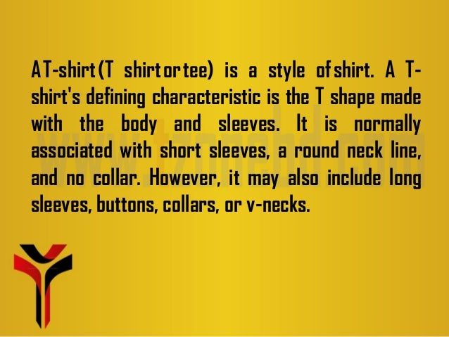 How to start a t shirt business (presentation)