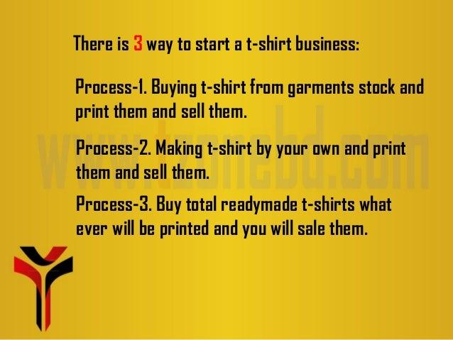 start a t shirt business (presentation)