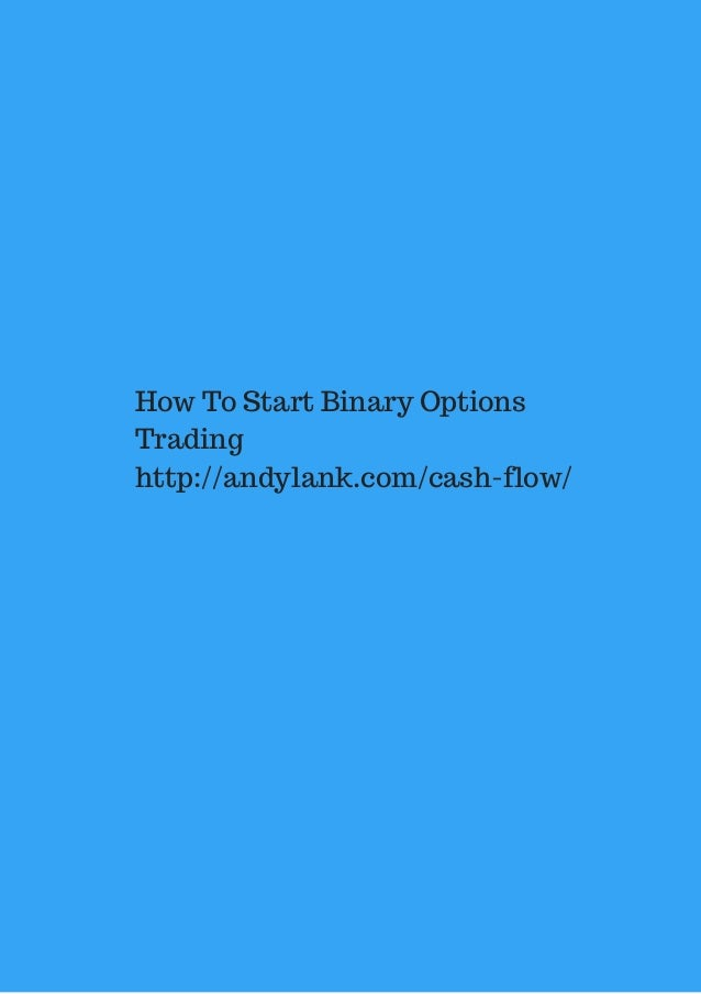 How to start a binary options company