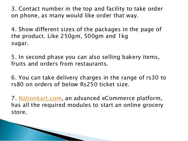 Online grocery business plan india