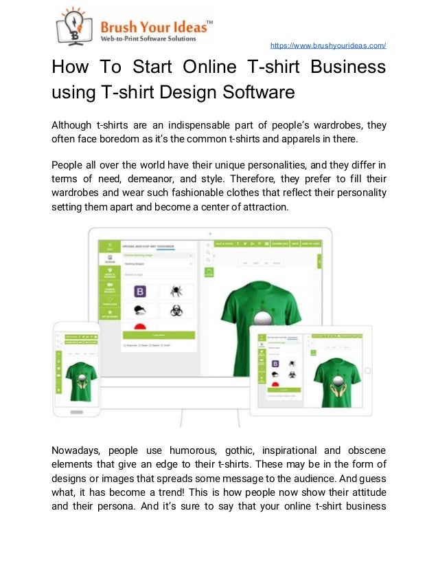 How To Start Online T Shirt Business Using T Shirt Design Software