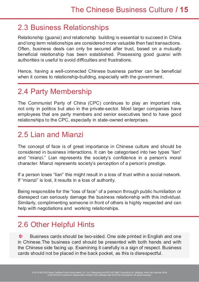 ECOVIS Doing Business in China Guide 2014