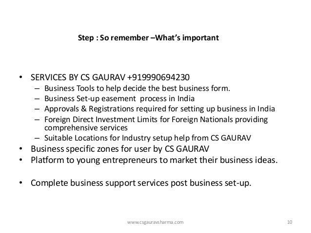 www.csgauravsharma.com  •SERVICES BY CS GAURAV +919990694230  –Business Tools to help decide the best business form.  –Bus...
