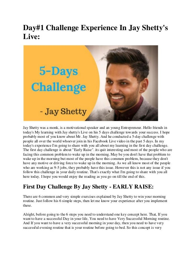 Daily Routine Of Rich & Successful People by Jay Shetty ...