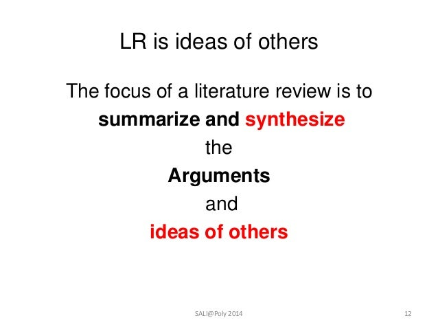 literature review how to do