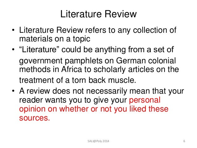 how to write a psychology literature review