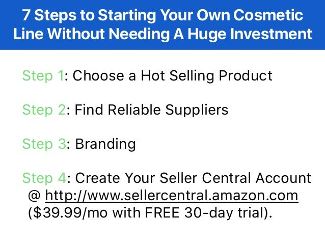 How to Start Your Own Cosmetic Line Without Needing a Huge
