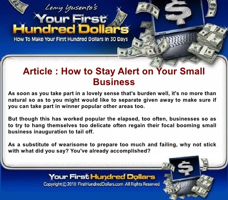 Article : How to Stay Alert on Your Small                      Business As soon as you take part in a lovely sense that's ...