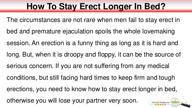 How to keep your erection longer