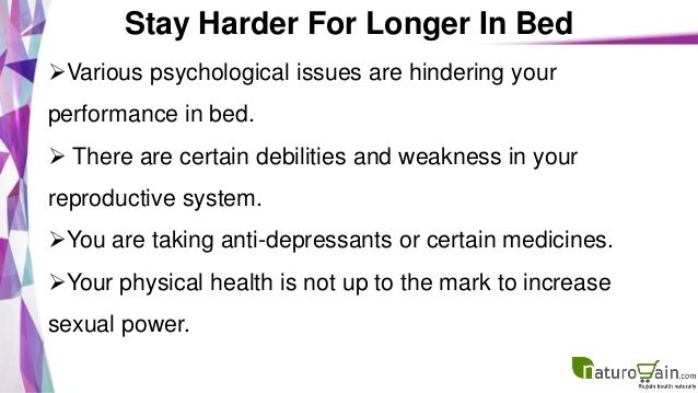 How Stay Hard Longer In Bed