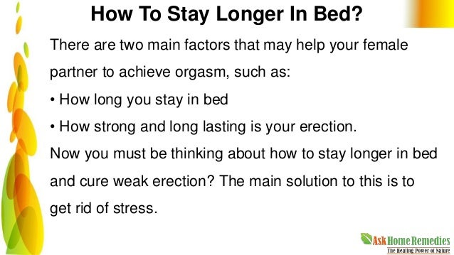 How To Keep An Erection For Longer