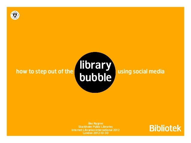 how to step out of the                          library                       using social media                          ...