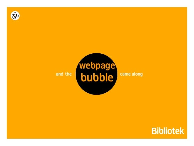libraryAnd finally: the             in social media                   bubble