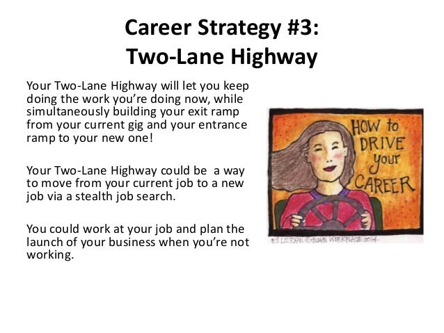 Career Strategy #3: Two-Lane Highway Your Two-Lane Highway will let you keep doing the work you're doing now, while simult...
