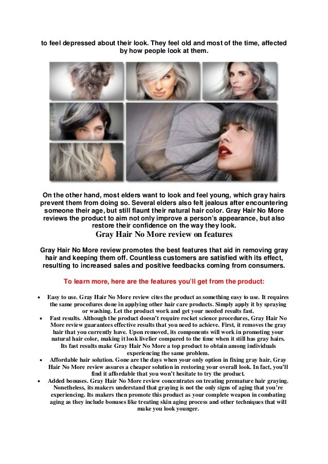 How to stop and reverse gray hair naturally - gray hair no