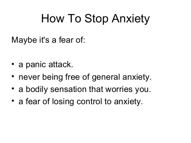 how to stop pvcs from anxiety