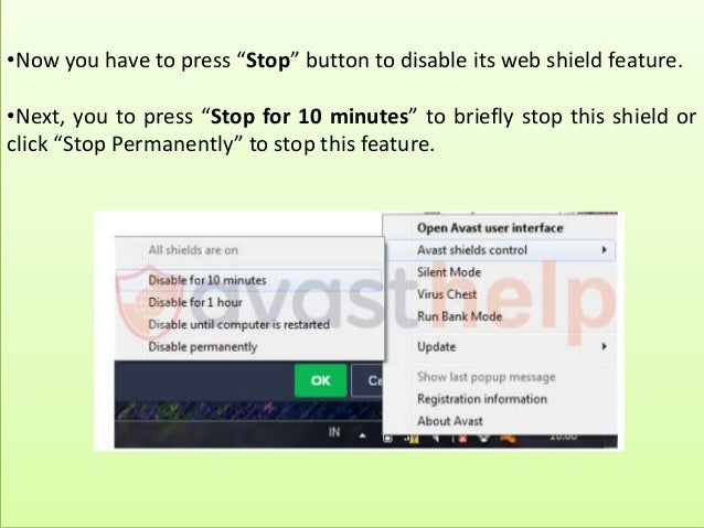 how do i stop avast from blocking a site?