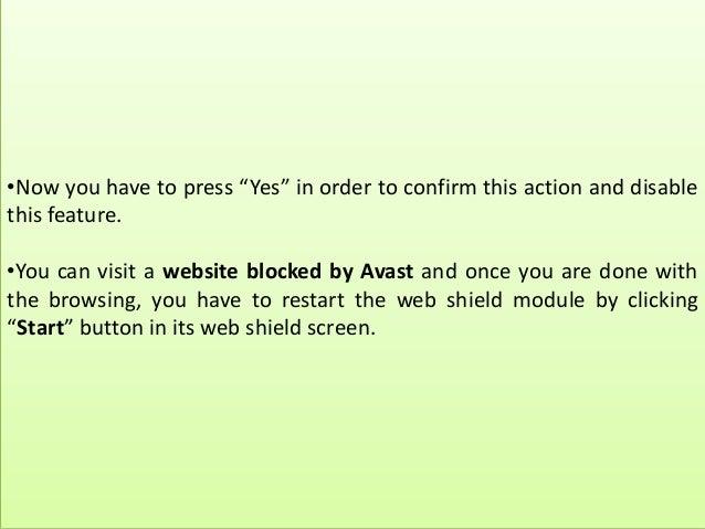avast allow website