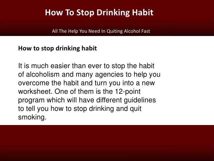 how to avoid drinking habit