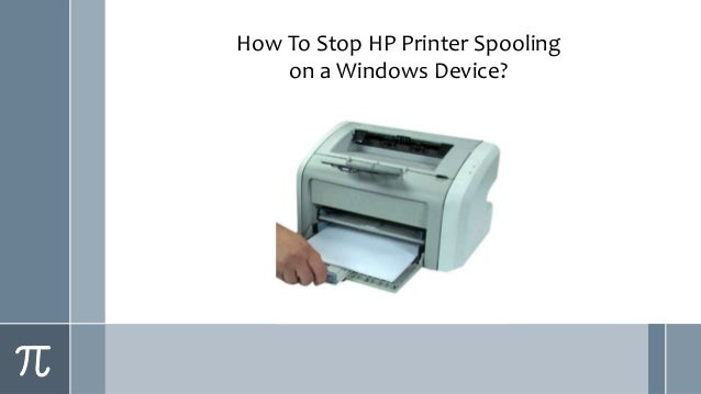 How To Stop HP Printer Spooling on a Windows Device?