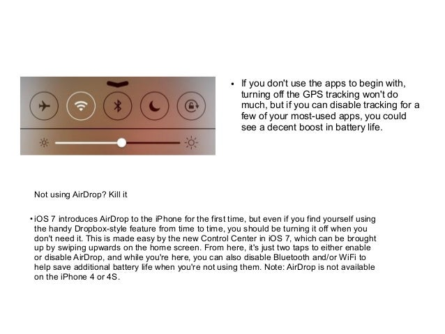Easiest Way To Obtain An Airdrop: How To Stop IOS 7 From Destroying Your Iphone's Battery Life