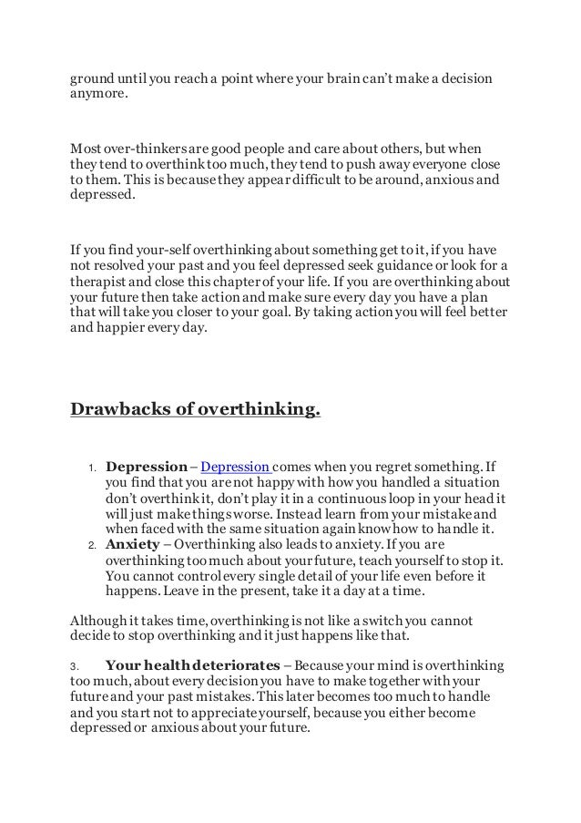 how to stop overthinking the past