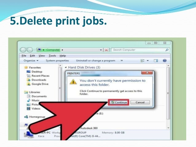 How to stop printer spooling on a windows