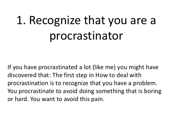 how to avoid procrastination Procrastination can sabotage our goals, destroy our confidence and cause stress luckily, there are techniques that can teach us how to stop procrastinating.