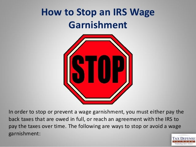 how to get a wage garnishment