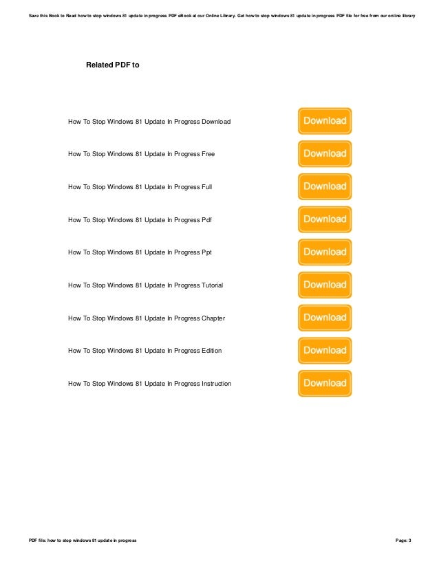how to stop windows update download in progress