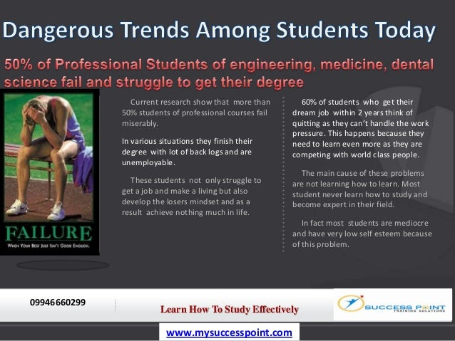 Current research show that more than        60% of students who get their              50% students of professional course...
