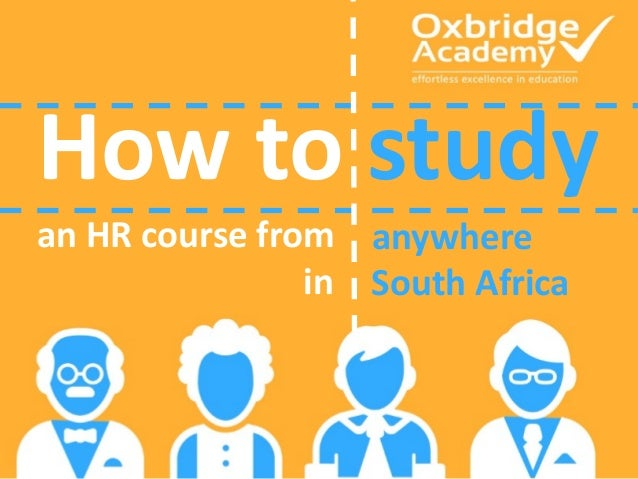 How to study an HR course from anywhere South Africain