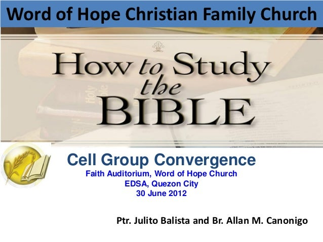 Word of Hope Christian Family Church      Cell Group Convergence         Faith Auditorium, Word of Hope Church            ...
