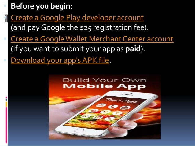 How to submit my app in play store