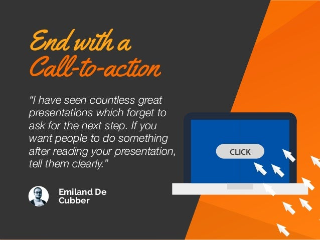 """Emiland De Cubber CLICK """"I have seen countless great presentations which forget to ask for the next step. If you want peop..."""