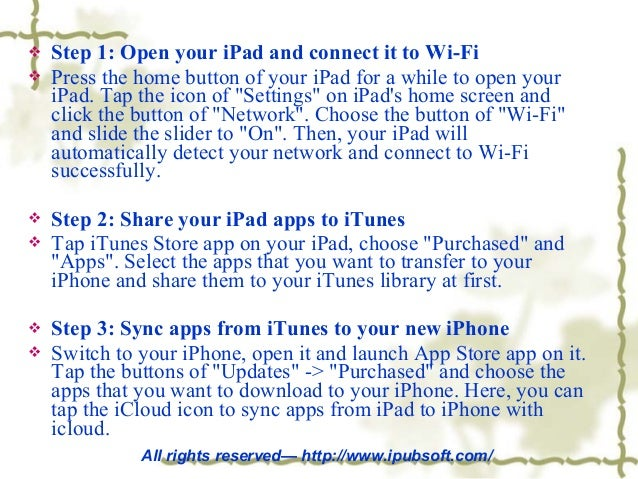 How to Sync Apps from iPad to iPhone with iCloud?