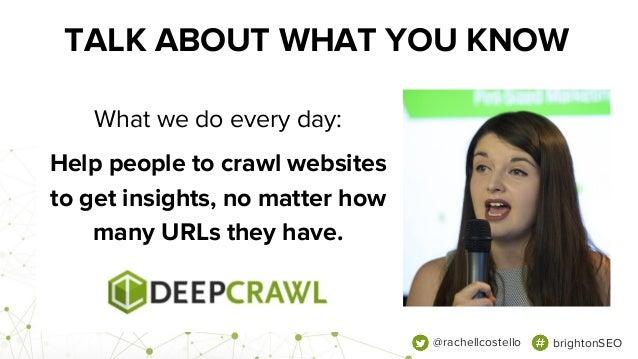 How To Tackle Enterprise Sites - Rachel Costello, Technical SEO, DeepCrawl Slide 2
