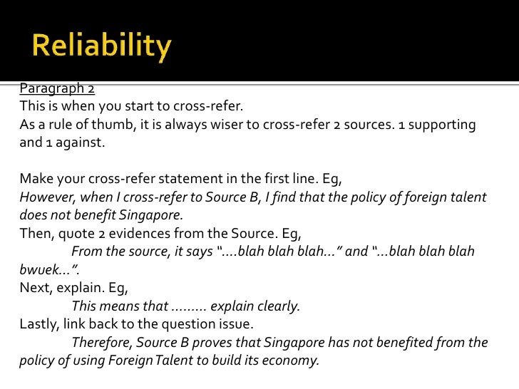 Paragraph 2This is when you start to cross-refer.As a rule of thumb, it is always wiser to cross-refer 2 sources. 1 suppor...