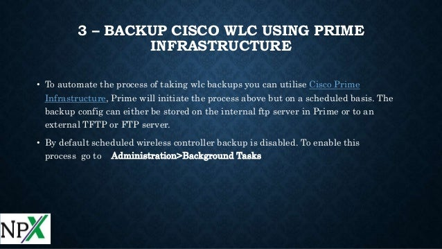 How to take backup of cisco WLC 5508
