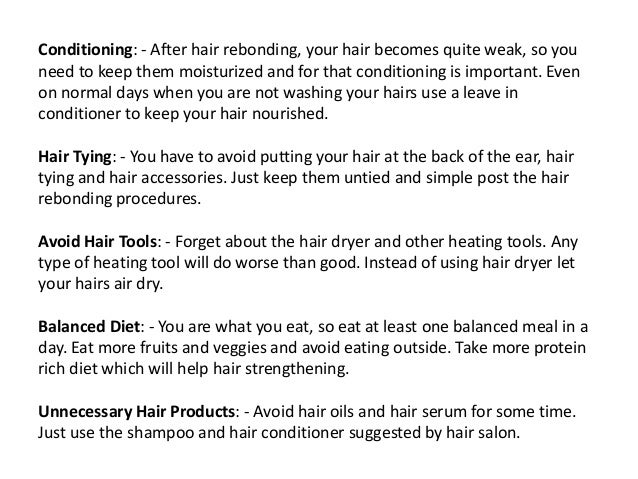 How To Take Care Of Your Hair After