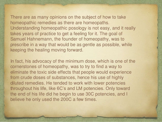 How to Take Homeopathic Remedies Slide 2