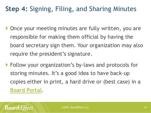 taking good meeting minutes