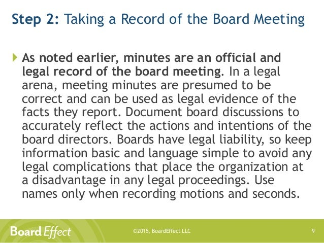 how to take minutes at a board meeting template