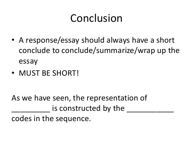 Sweet and short conclusions for essays