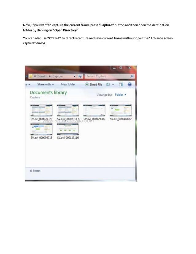 how to take screenshot on windows media player