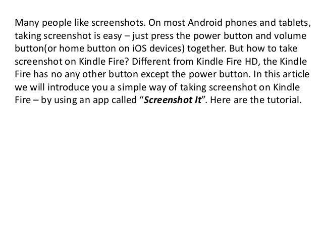 how to take screenshot on