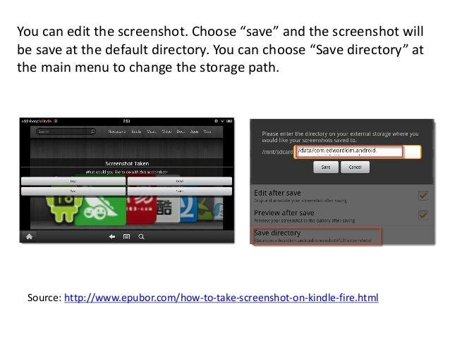 How To Take Screenshot On Kindle Fire