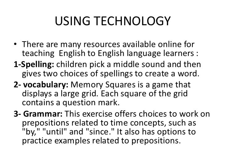 the effectiveness of teaching vocabulary through language games Effective vocabulary instruction  word learning takes place through listening to those around us most of the words  such as pre-teaching vocabulary prior to .